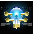 Creative light bulb idea infographic vector image