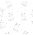 cute cats pet seamless icons pattern and vector image vector image