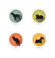 dog and cat set collection of pets icon silhouette vector image vector image