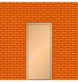 Door on a brick wall vector image vector image