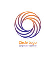 dynamic circle logo colorful swirl corporate icon vector image vector image