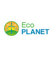 eco city logo vector image