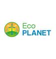 eco city logo vector image vector image
