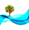 Eco tree background vector image