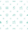 electronics icons pattern seamless white vector image vector image