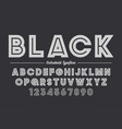 extra bold decorative bold font design alphabet vector image vector image