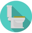 Flat icon for toilet vector image
