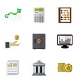 flat icon incoming set of document strongbox vector image vector image