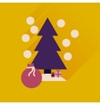 Flat icon with long shadow Tree bag gifts vector image vector image