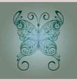 floral vintage butterfly vector image vector image