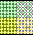 geometrical seamless pattern set - square vector image vector image