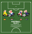 Group B 2014 Football Tournament vector image vector image