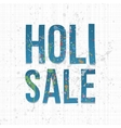 Holi Sale Background Festival Banner Template vector image