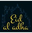 holiday Eid Al Adha label vector image vector image