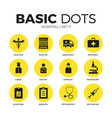 hospital flat icons set vector image