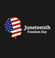 juneteenth freedom emancipation independence day vector image vector image