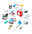 medical isometric 3d icons vector image vector image