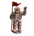 old underwater diving suit isolated on white vector image
