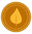 plant leaf digital coin vector image