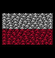 poland flag mosaic of military tank items vector image