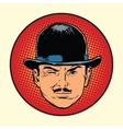 Retro European sleuth spy or detective vector image