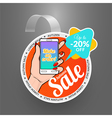 Round wobbler design template Autumn sale event vector image vector image