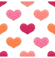 Saint Valentines day seamless pattern Background vector image