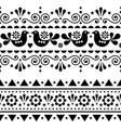 scandinavian folk seamless long pattern vector image vector image