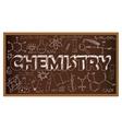 School board doodle with chemistry symbols vector image vector image