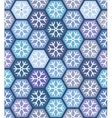 Seamless geometric pattern with snowflakes vector image vector image