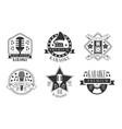 set logos for karaoke on a vector image
