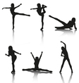 Set of aerobic silhouettes vector | Price: 1 Credit (USD $1)
