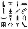 Sex shop icons set simple style vector image vector image