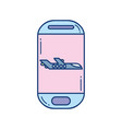 smartphone plane travel aviation transport airport vector image