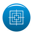 square objective icon blue vector image