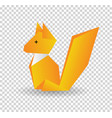 squirrel colored origami style icon element vector image