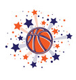 stars fireworks basketball vector image