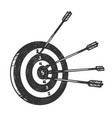 target with arrows sketch engraving vector image