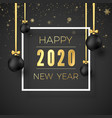 template new year greeting card golden text vector image vector image
