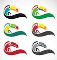 Toucan design vector image vector image