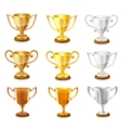 trophy set vector image vector image