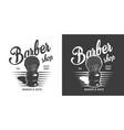 vintage monochrome barbershop logo vector image