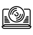 vinyl player icon outline style vector image vector image
