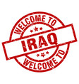 welcome to iraq red stamp vector image vector image