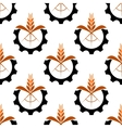 Wheat stalk and gear wheel seamless pattern vector image vector image