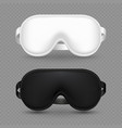 white and black realistic sleeping mask vector image vector image