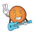 with guitar cookies mascot cartoon style vector image vector image