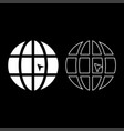 World with arrow world click concept website icon