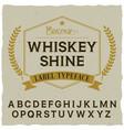 whiskey shine poster vector image