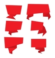 Set of red paper banners vector image